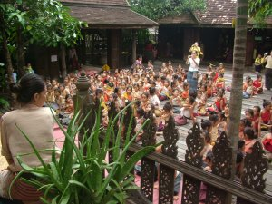 school excursions happen regularly to Monfai teaching the children of Chiang Mai all about Lanna Culture